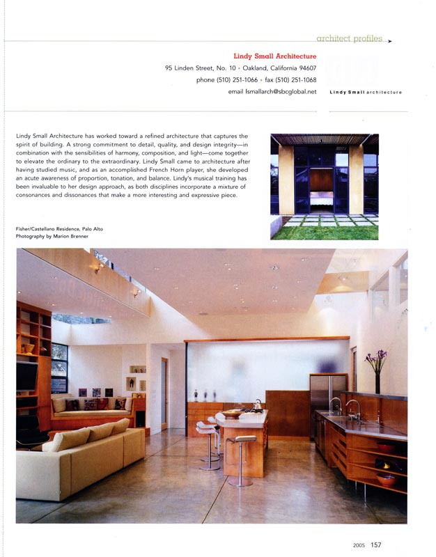 Lindy Small Architecture Featured In The Book Small Firms Great Projects